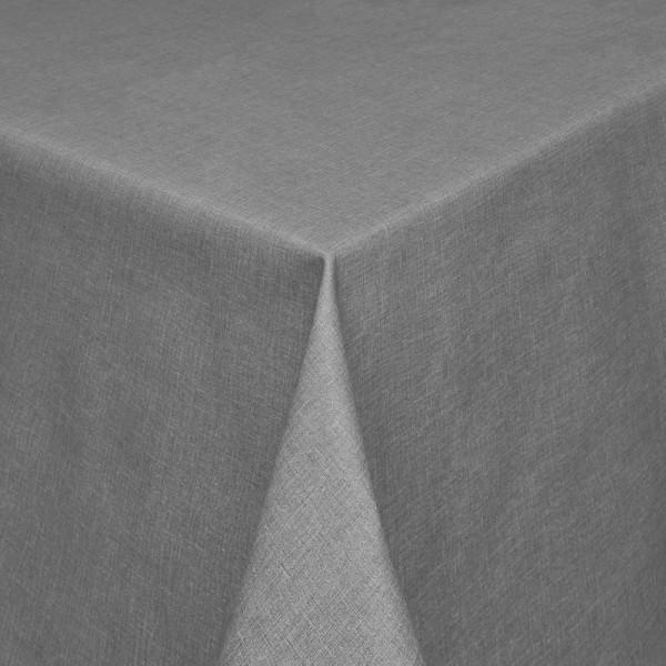Tischdecken Olbia Jaquard-Gewebe in Anthrazit mit Fleckschutz