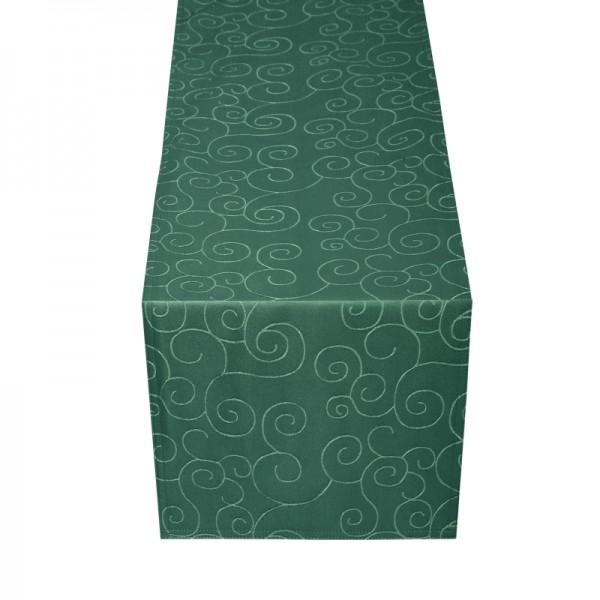 Tischläufer Tischband Ornamente in Dunkel-Grün