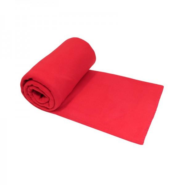Fleecedecke 130x170 cm Rot