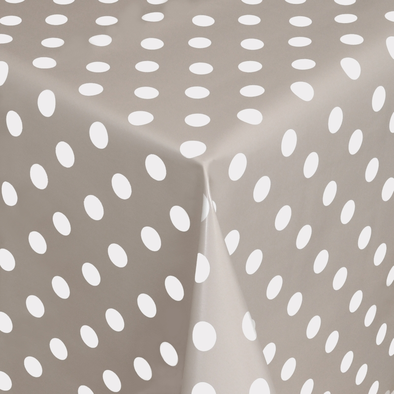 tischdecke abwaschbar wachstuch punkte grau weiss im wunschma. Black Bedroom Furniture Sets. Home Design Ideas