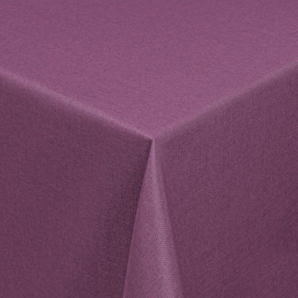 Tischdecken Damast Eckig mit Saum Leinen-Optik Lila