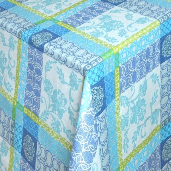 Tischdecken Tivoli 100% Baumwolle mit Fleckschutz in Blau