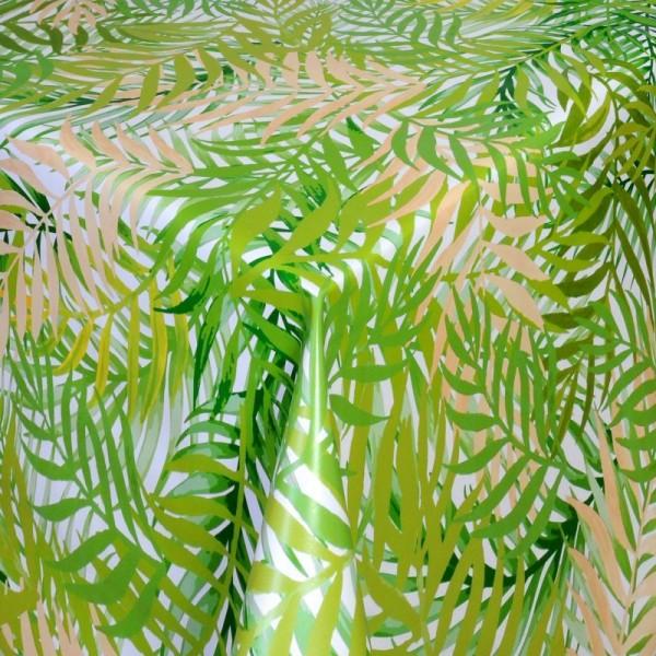 Tischdecke Abwaschbar Wachstuch Farne Motiv Grün im Wunschmaß