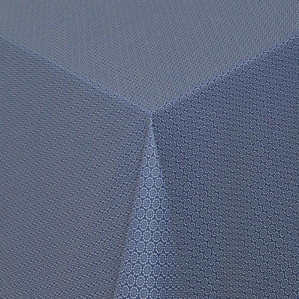 Tischdecken Viterbo 100% Baumwolle in Jeans-Blau mit Fleckschutz