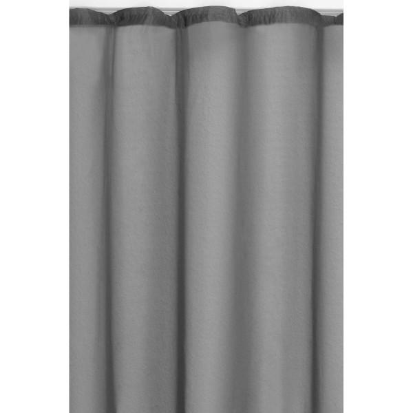 Vorhang Gardine Transparent Dekoschal mit Kräuselband in Grau