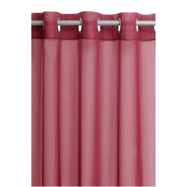 Vorhang Gardine Transparent Ösenschal Dekoschal mit Ösen in Rot