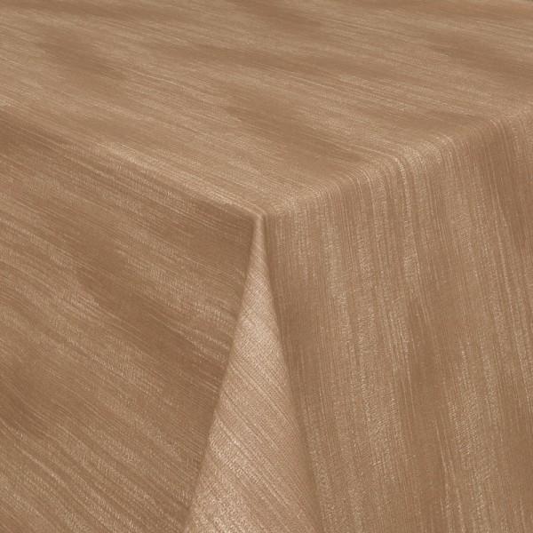 Tischdecken Wisch-Optik Jaquard-Gewebe mit Fleckschutz in Braun