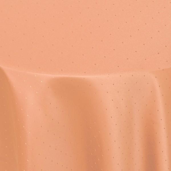 Tischdecken Damast Oval mit Saum Punkte Apricot