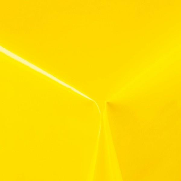 Lacktischdecke Tischbelag Lebensmittelecht abwaschbar Dunkel-Gelb