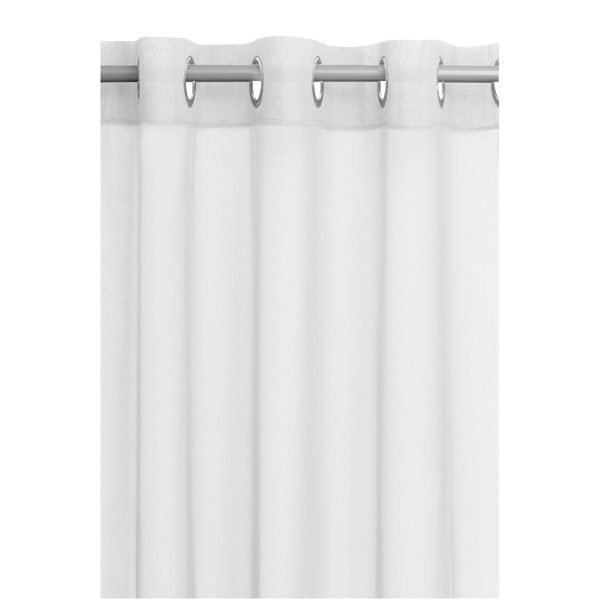 vorhang gardine transparent senschal dekoschal mit sen in weiss. Black Bedroom Furniture Sets. Home Design Ideas
