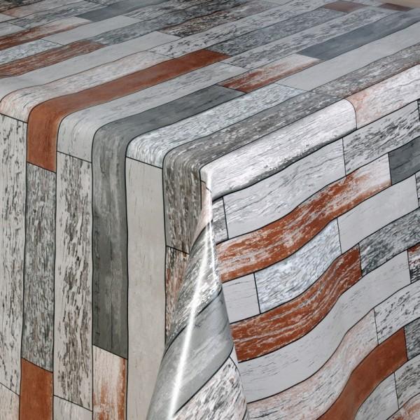 Tischdecke Abwaschbar Wachstuch Rechtecke Grau Braun im Wunschmaß