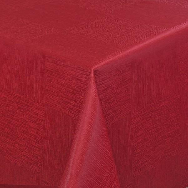 Tischdecken Jacquard-Gewebe mit Fleckschutz und Saum Melilla in Wein-Rot