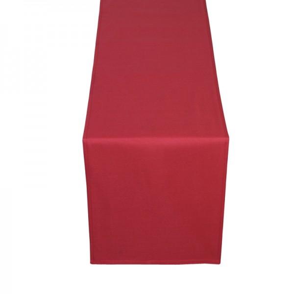 Tischläufer Tischband Uni in Wein-Rot