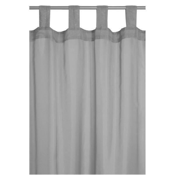 Vorhang Gardine Transparent Schlaufenschal Dekoschal in Grau
