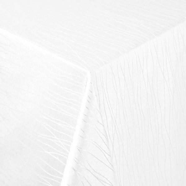 Tischdecken Sanremo Jaquard-Gewebe in Weiss mit Fleckschutz