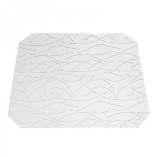 Tischsets Platzsets Streifen 40x50 cm in Weiss