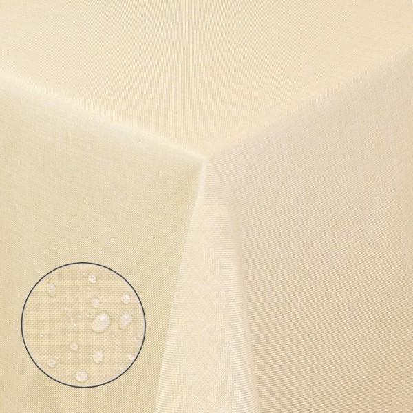 Tischdecken Damast Eckig Leinen Meliert wasserabweisend Beige