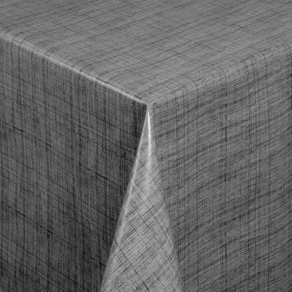 Tischdecke Abwaschbar Wachstuch Linien Motiv Grau im Wunschmaß