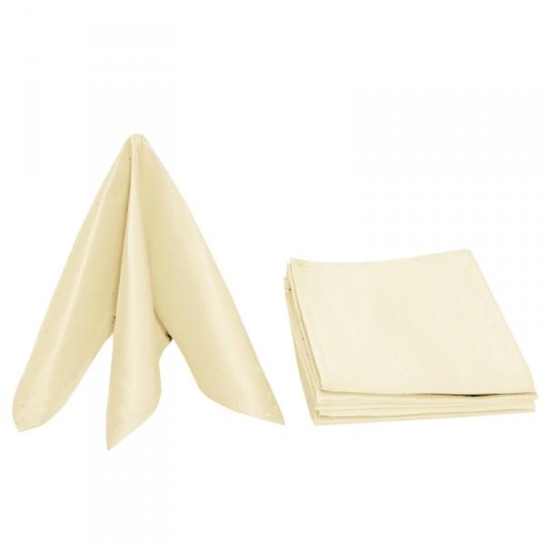 Servietten Damast Punkte 50x50 Creme-Beige (6er Pack)