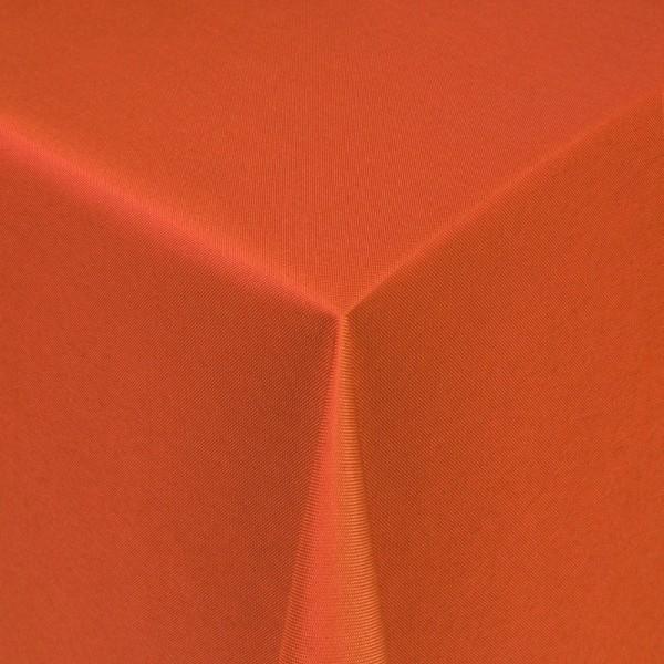 Tischdecken Damast Eckig mit Saum Uni Orange