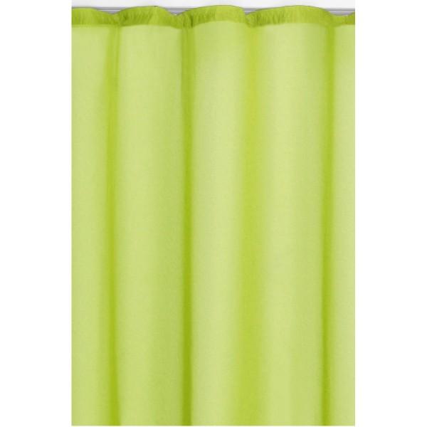 Vorhang Gardine Transparent Dekoschal mit Kräuselband in Grün
