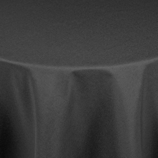 Tischdecken Damast Oval mit Saum Leinen-Optik Grau