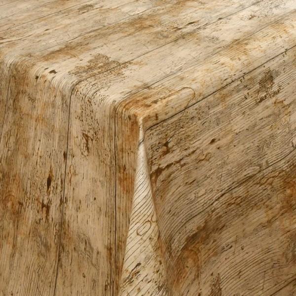 Tischdecke Abwaschbar Wachstuch Lebensmittelecht Holz-Motiv