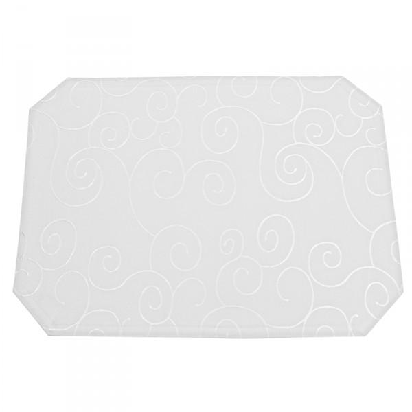 Tischsets Platzsets Ornamente 40x50 cm in Weiss