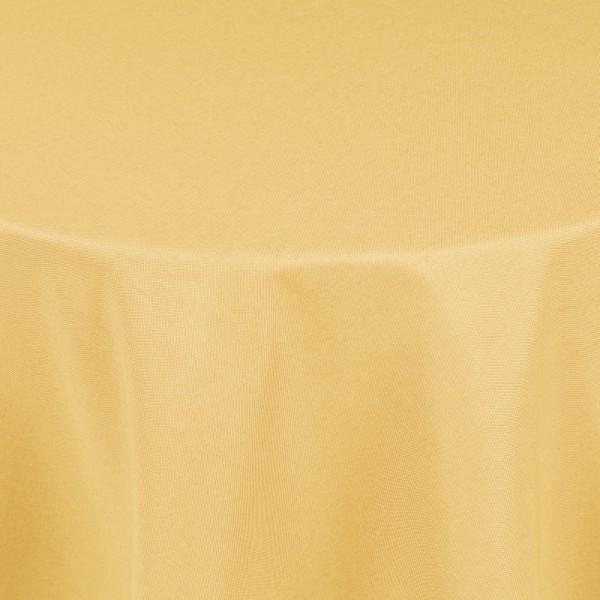 Tischdecken Damast Oval mit Saum Leinen-Optik Dunkel-Gelb