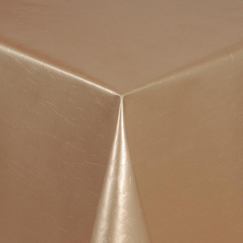 tischdecke abwaschbar wachstuch relief blumenkelche beige. Black Bedroom Furniture Sets. Home Design Ideas