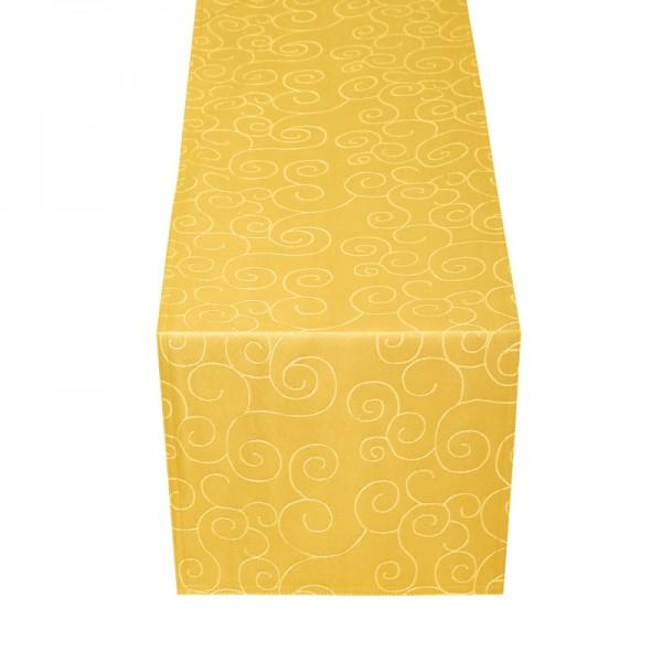 Tischläufer Tischband Ornamente in Dunkel-Gelb