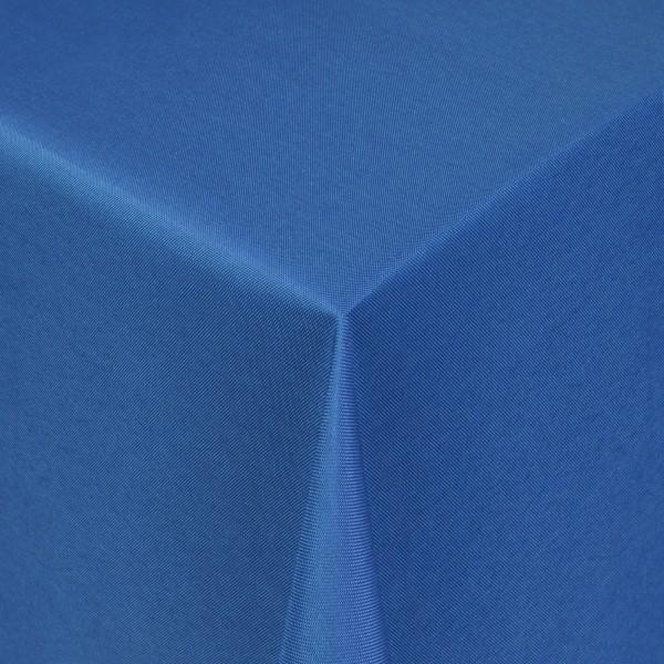 Tischdecken Damast Eckig mit Saum Uni Dunkel-Blau