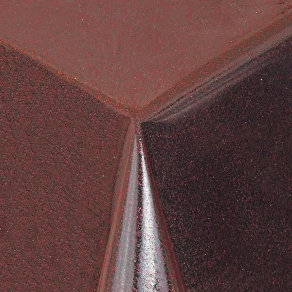 Schutz Tischdecke transparent Glitter-Folie mit Metallic-Farbpigmenten in Kupfer