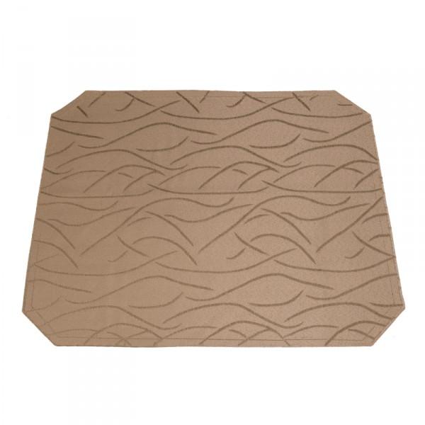 Tischsets Platzsets Streifen 40x50 cm in Hell-Braun