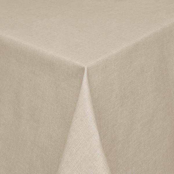 Tischdecken Olbia Jaquard-Gewebe in Sand mit Fleckschutz