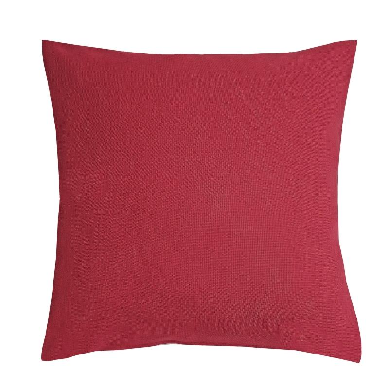 kissenh lle leinen optik sofa kissen deko in wein rot. Black Bedroom Furniture Sets. Home Design Ideas