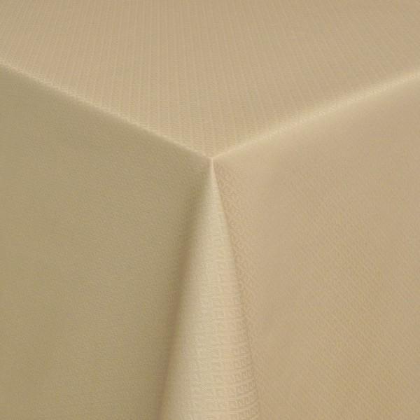 Tischdecken Modica Jaquard-Gewebe in Beige mit Fleckschutz