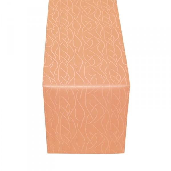 Tischläufer Tischband Streifen in Apricot