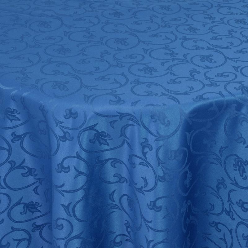 tischdecken damast oval mit saum barock dunkel blau. Black Bedroom Furniture Sets. Home Design Ideas