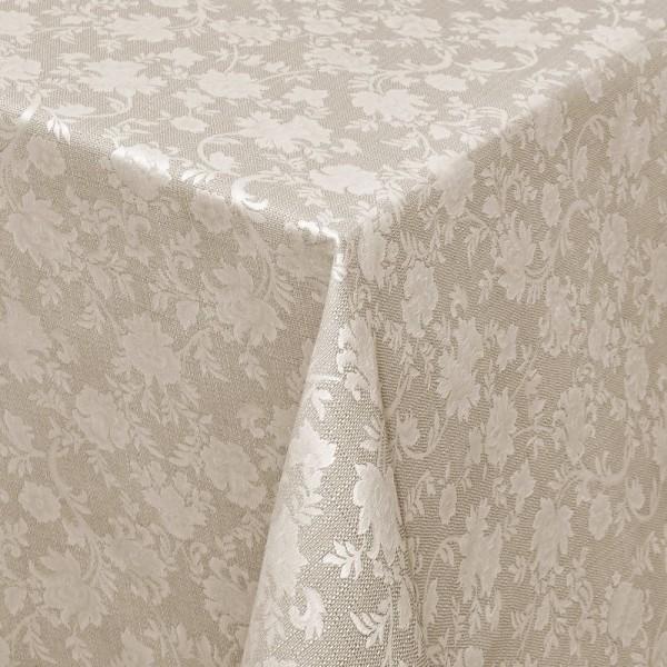 Tischdecken Jacquard-Gewebe mit Fleckschutz und Saum Badalona in Braun