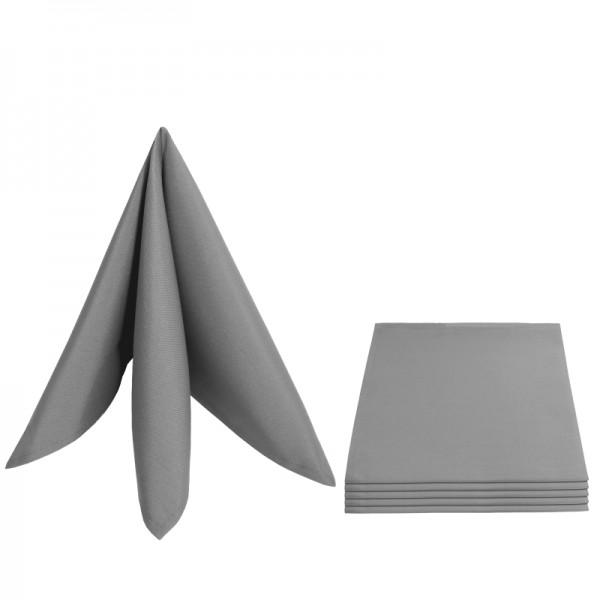 Servietten Damast Uni 50x50 Grau (6er Pack)