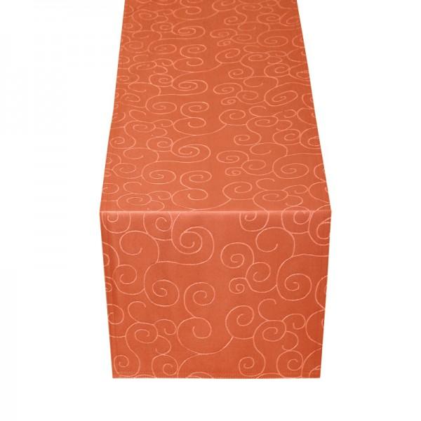 Tischläufer Tischband Ornamente in Orange