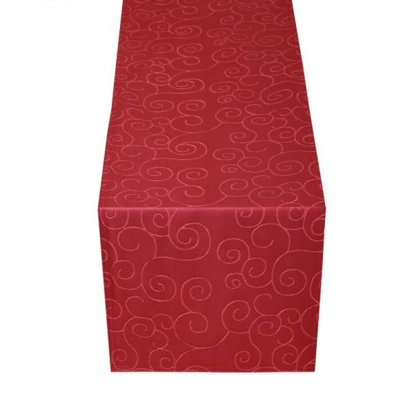 Tischläufer Tischband Ornamente in Wein-Rot