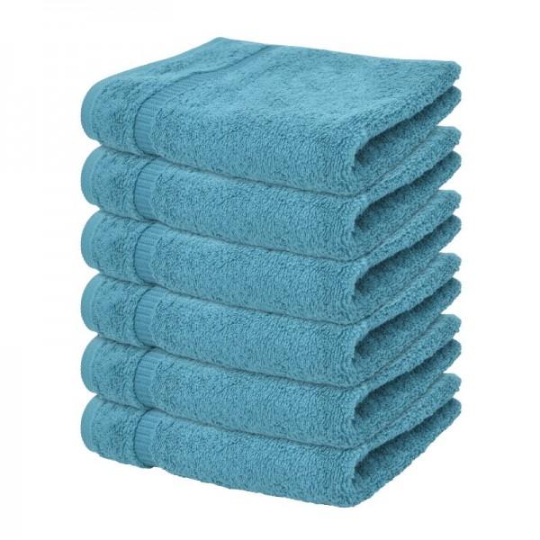 """Handtuch """"Mailand"""" in Blau im 6er Pack"""