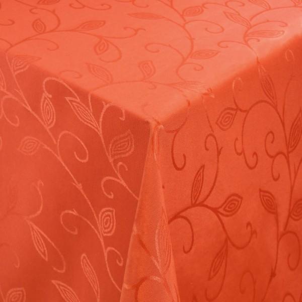 Tischdecken Jacquard-Gewebe mit Fleckschutz und Saum Romantik in Orange