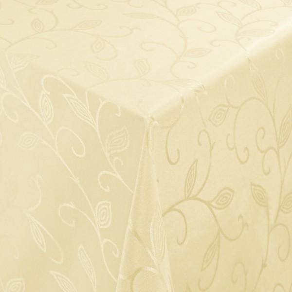 Tischdecken Jacquard-Gewebe mit Fleckschutz und Saum Romantik in Creme