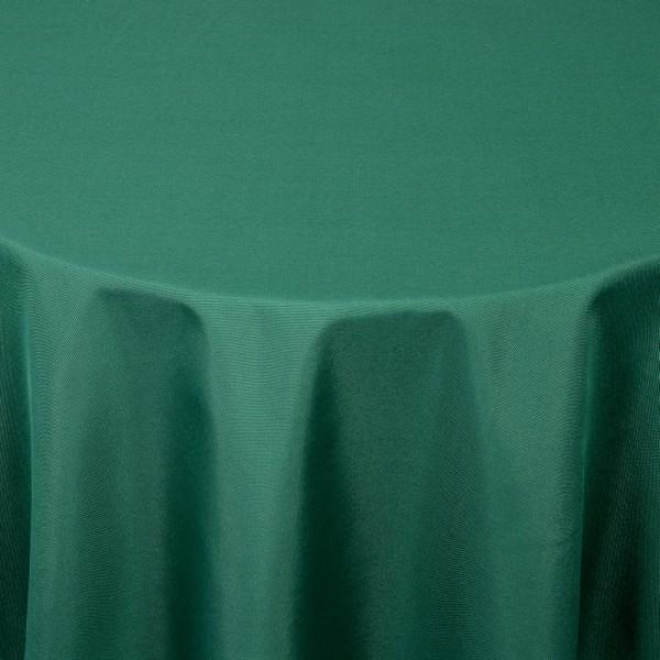Tischdecken Damast Oval mit Saum Uni Dunkel-Grün