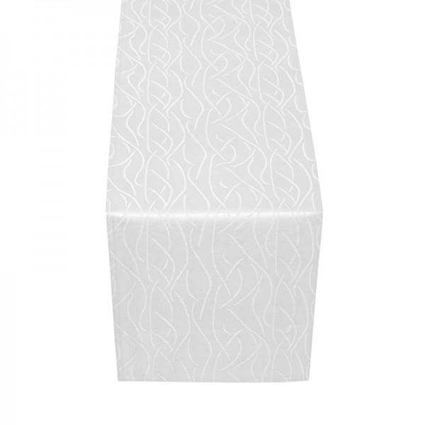 Tischläufer Tischband Streifen in Weiss