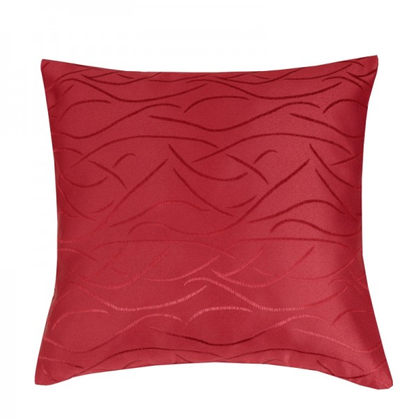 Kissenhülle Streifen Sofa Kissen Deko in Wein-Rot