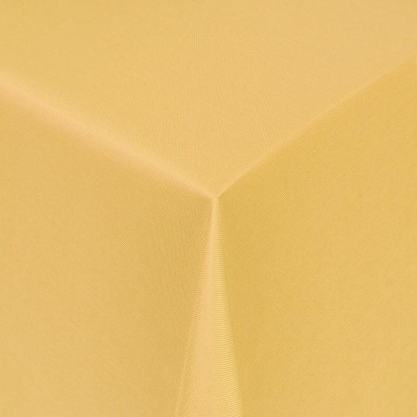 Tischdecken Damast Eckig mit Saum Uni Dunkel-Gelb